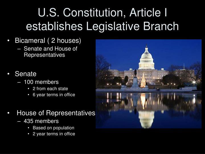 U.S. Constitution, Article I