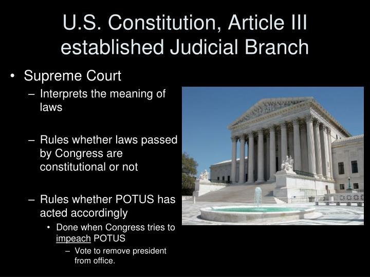 U.S. Constitution, Article III