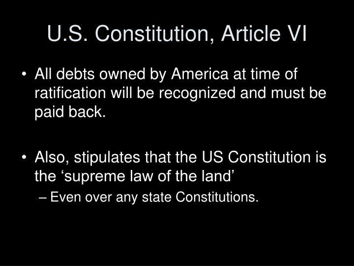 U.S. Constitution, Article VI