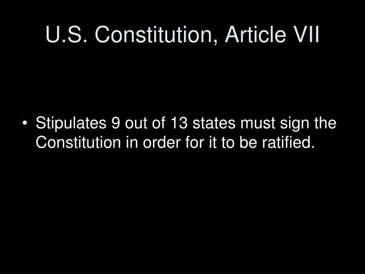 U.S. Constitution, Article VII