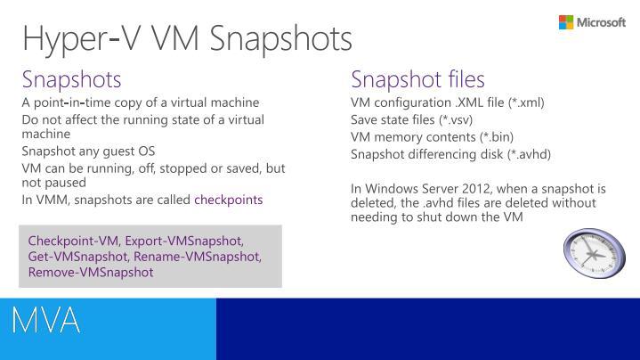 Hyper-V VM Snapshots