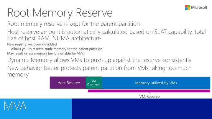 Root Memory Reserve