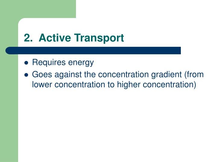 2.  Active Transport