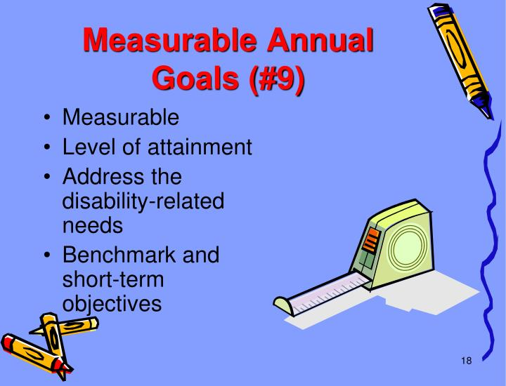 Measurable Annual Goals (#9)