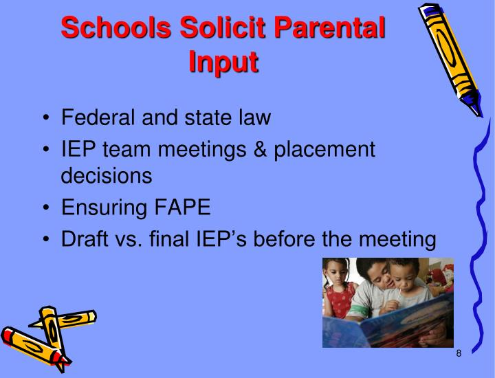 Schools Solicit Parental Input