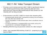 802 11 aa video transport stream