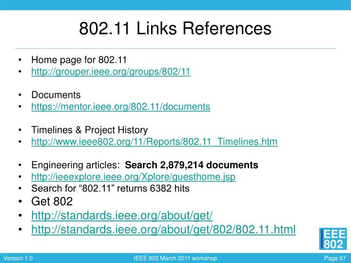 802.11 Links References