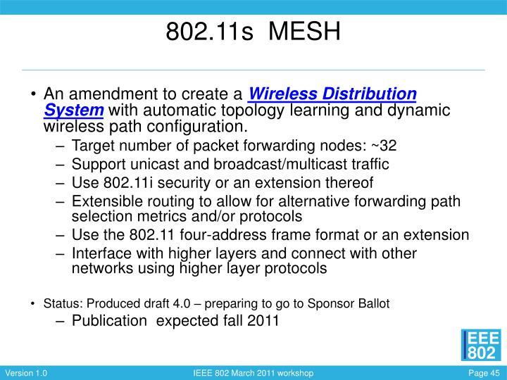 802.11s  MESH