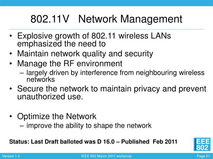 802.11V   Network Management