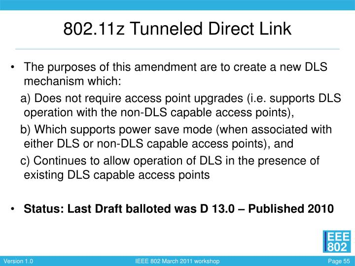 802.11z Tunneled Direct Link