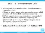 802 11z tunneled direct link