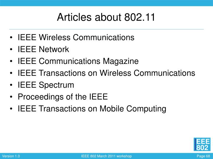Articles about 802.11