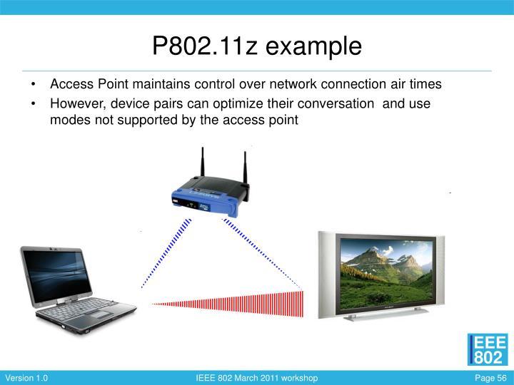 P802.11z example