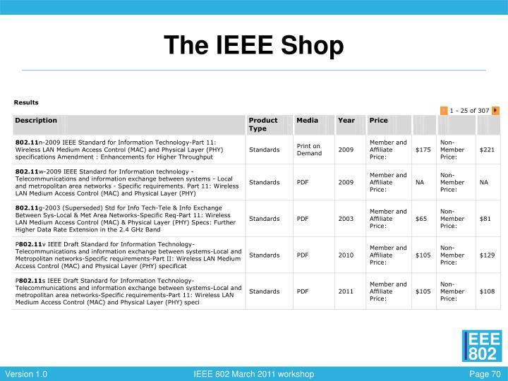 The IEEE Shop