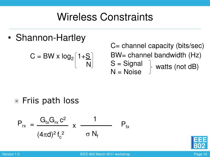 Wireless Constraints