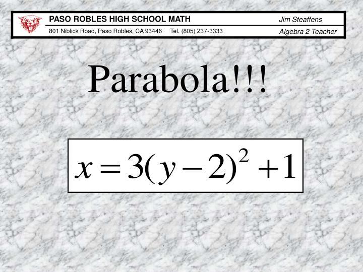 Parabola!!!