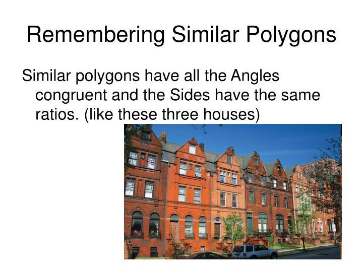 Remembering Similar Polygons