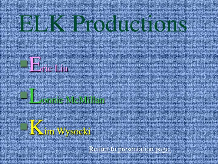 ELK Productions