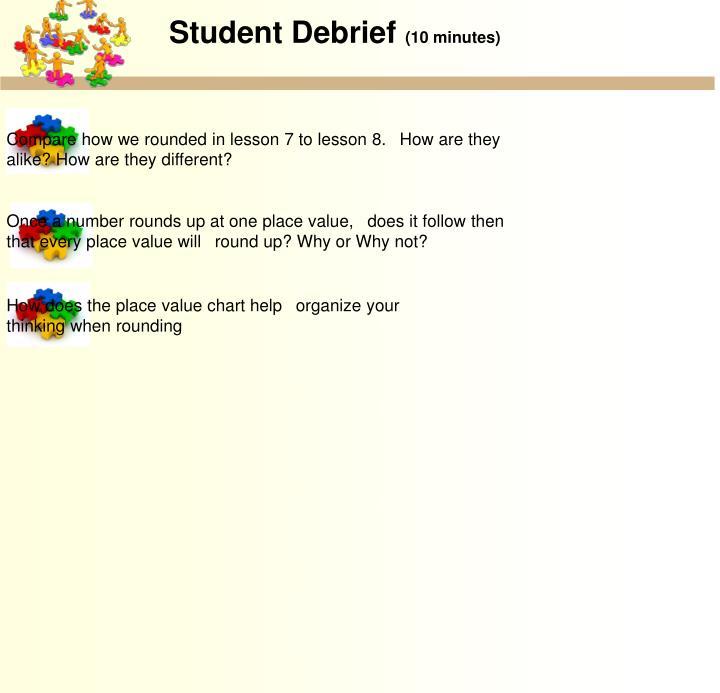 Student Debrief
