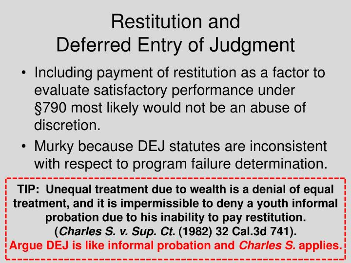 Restitution and