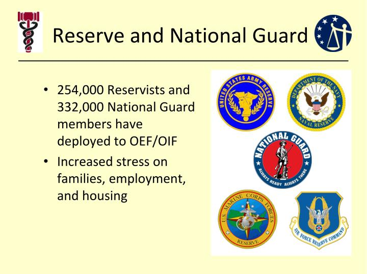 Reserve and national guard