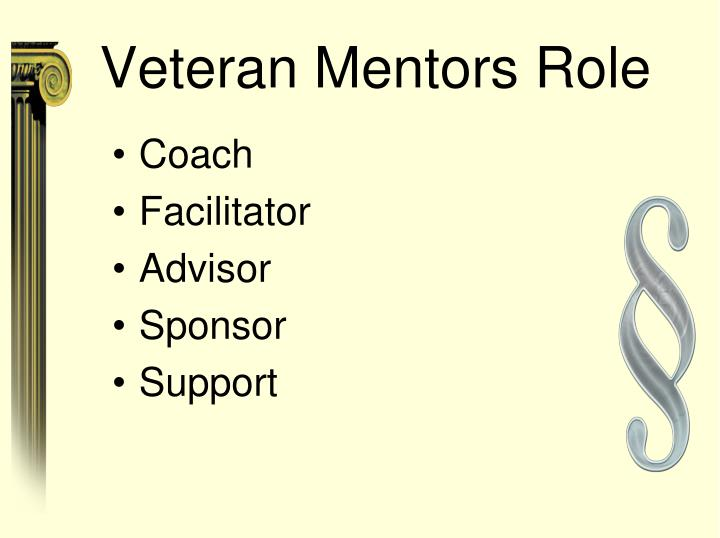Veteran Mentors Role