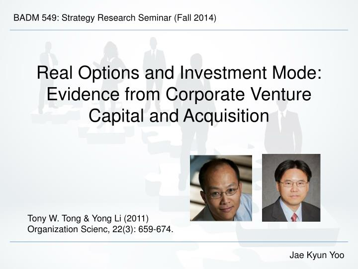 BADM 549: Strategy Research Seminar (Fall 2014)