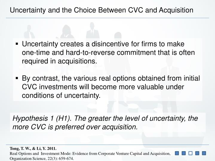 Uncertainty and the Choice Between CVC and Acquisition