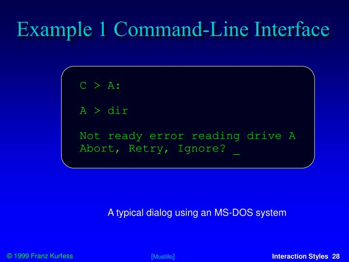 Example 1 Command-Line Interface