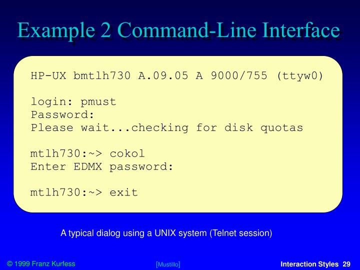 Example 2 Command-Line Interface