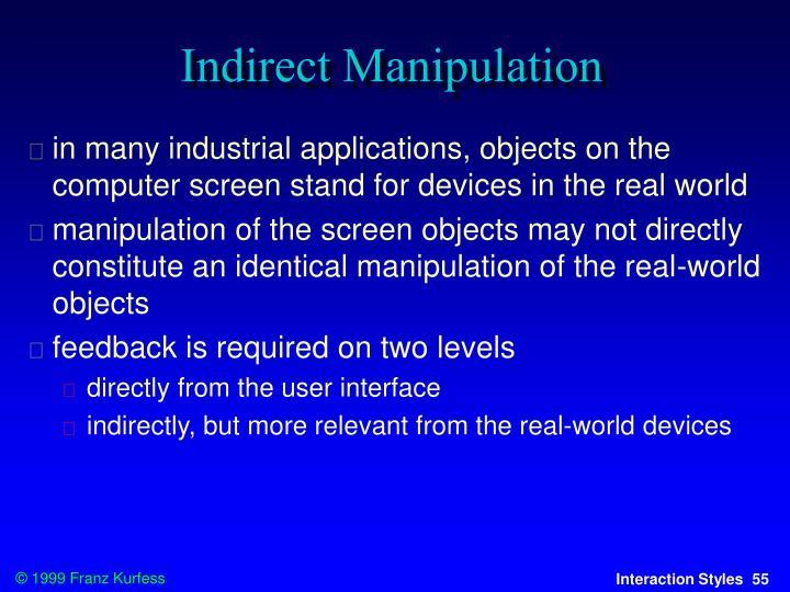 Indirect Manipulation