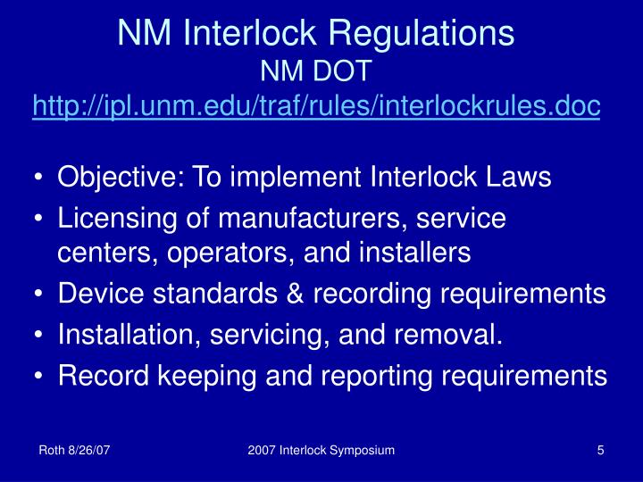 NM Interlock Regulations