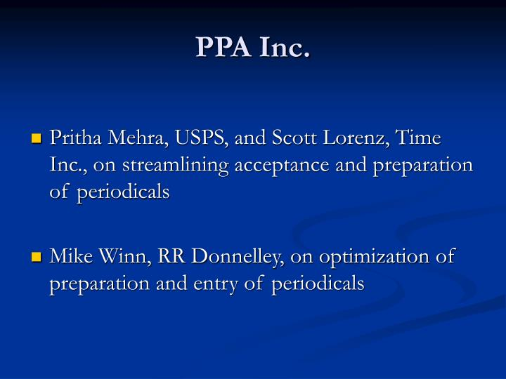 PPA Inc.
