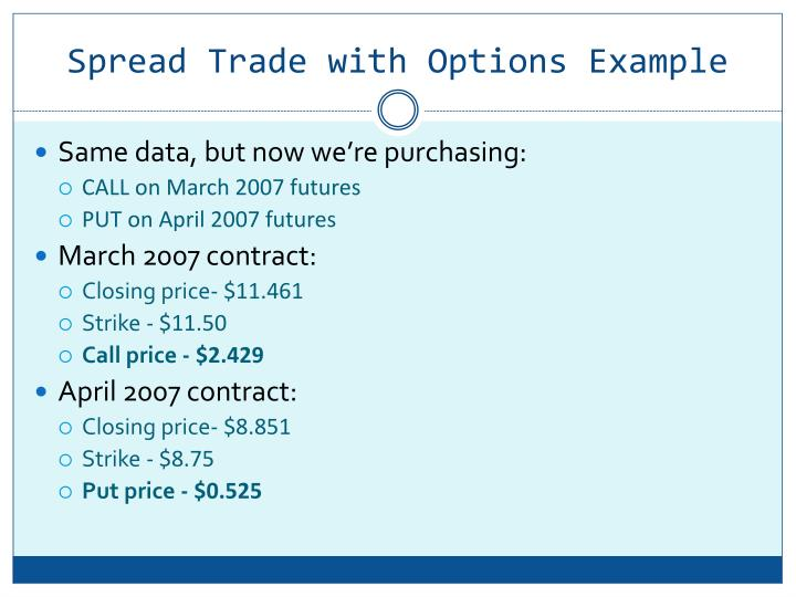 How trade options by example