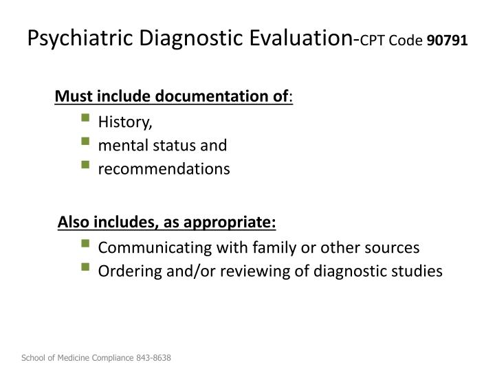 Psychiatric Diagnostic Evaluation