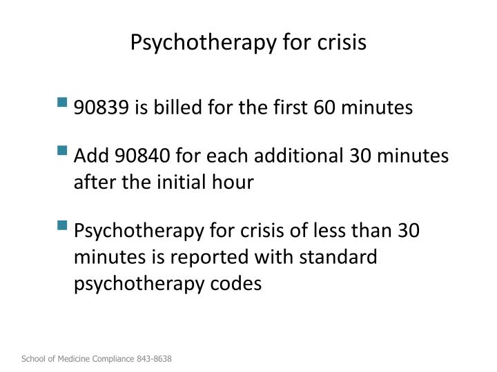 Psychotherapy for crisis