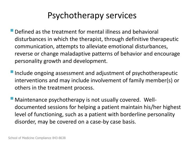 Psychotherapy services