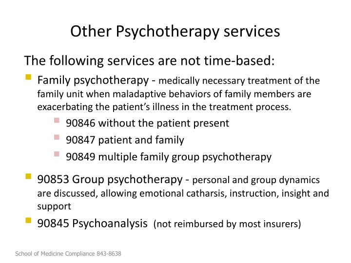 Other Psychotherapy services