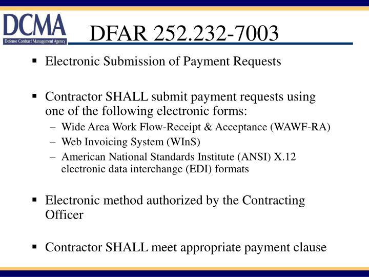 DFAR 252.232-7003