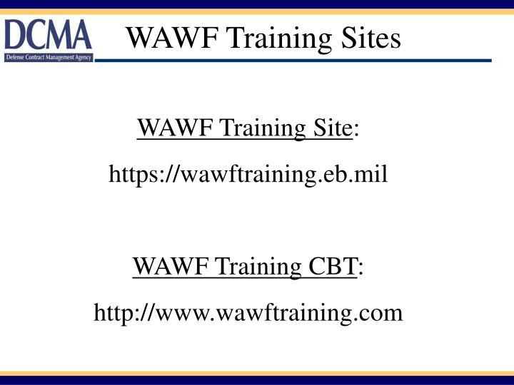WAWF Training Sites