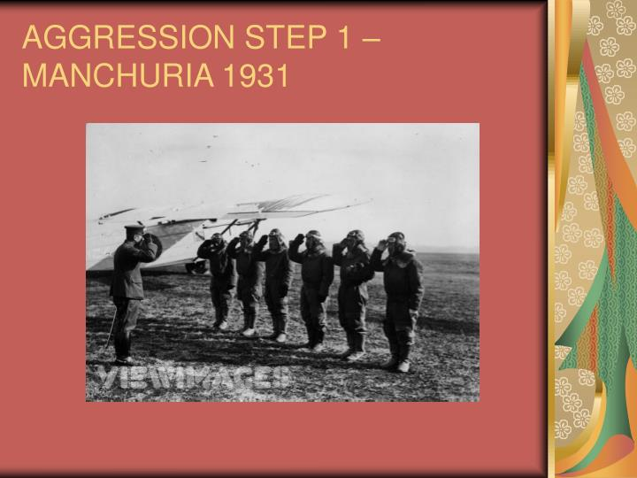 AGGRESSION STEP 1 – MANCHURIA 1931