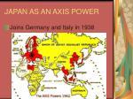 japan as an axis power