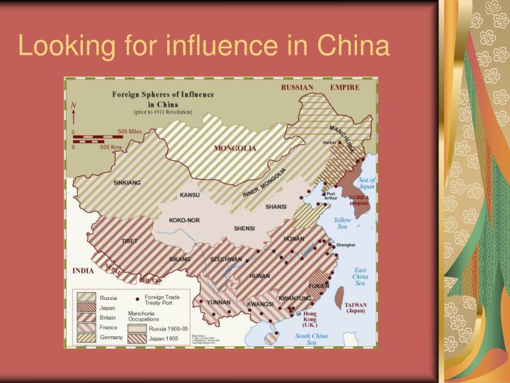 Looking for influence in China
