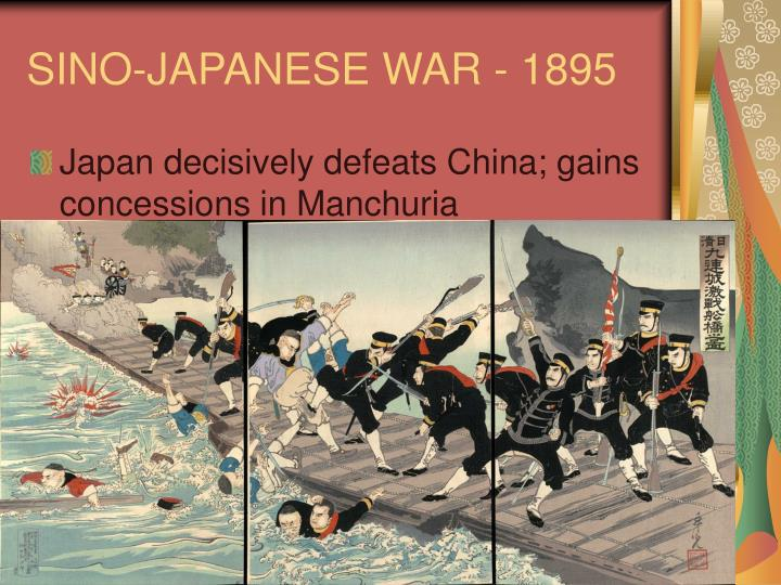 SINO-JAPANESE WAR - 1895
