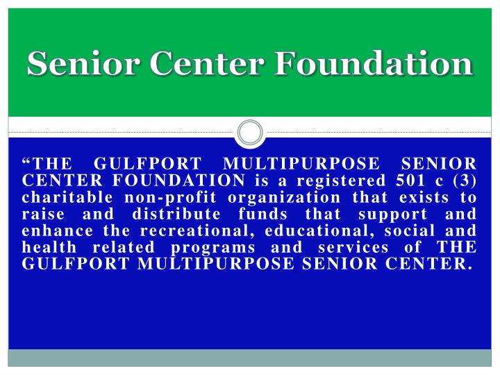 Senior Center Foundation