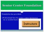 senior center foundation9