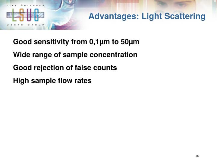 Advantages: Light Scattering