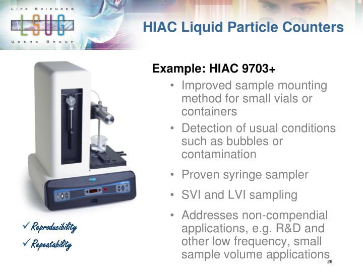 HIAC Liquid Particle Counters
