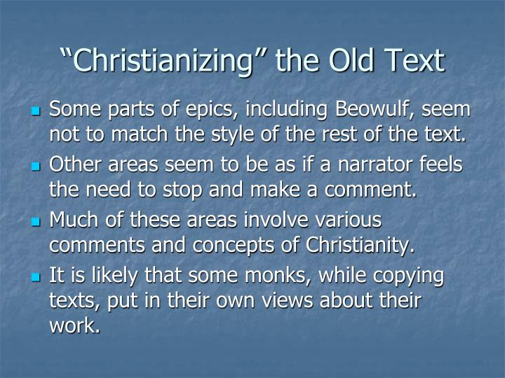 """Christianizing"" the Old Text"