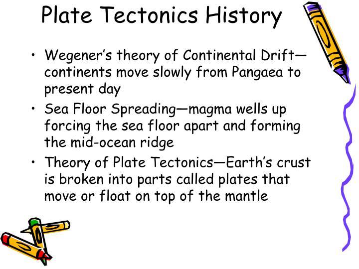 Plate Tectonics History